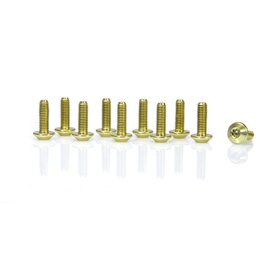 Aluminium Bolts, M5 x 15, multi teeth, anodized colours,...