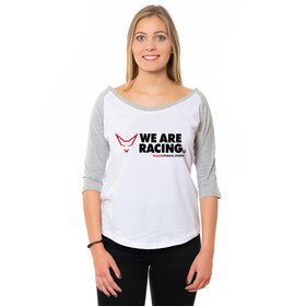 RACEFOXX Jersey Tee Women, white/grey