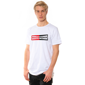 RACEFOXX U-Neck T-Shirt MEN, weiß