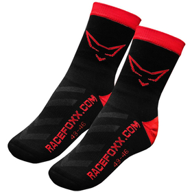 RACEFOXX Motorbike Socks with CoolPlus, black/red, size...