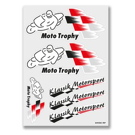 Klassik Motorsport Decal Sheet, white