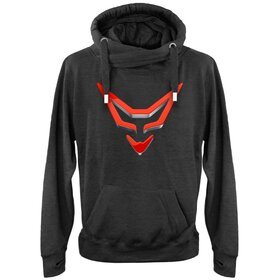 RACEFOXX Cross Neck Hoodie, charcoal