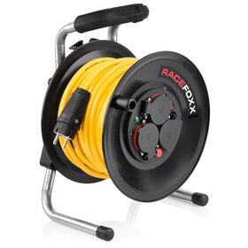 RACEFOXX Cable Drum with Armoured Cable, 25 m