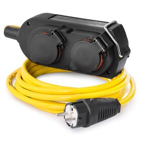 RACEFOXX Extension Cable Armoured with 4-Way Socket