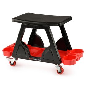Garage Stool w Canholder, Small Parts Compartment Model B