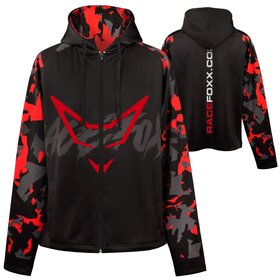 Hooded Jersey Jacket Camouflage Design