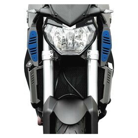 Yamaha MT09 RAM AIR COVERS, blue, logo