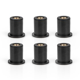 Rubber Coated Nut for Windshield M6, set of 6