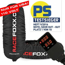 PRO DIGITAL up to 99° C SUPERBIKE Tire Warmers, US 110...