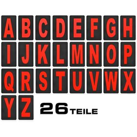 Letter Set for Pitboard, Tote Board, Info Board, big, red