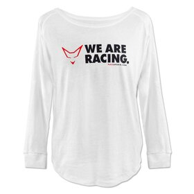 LADIES Long Sleeve, white, We are racing!