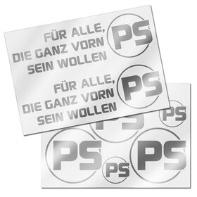 PS Decal Sheet, silver