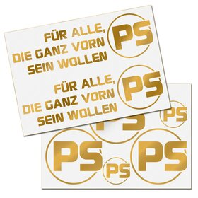 PS Decal Sheet, gold