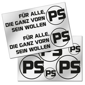PS Decal Sheet, black