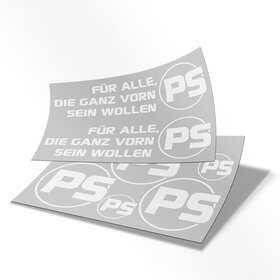 PS Decal Sheet, white