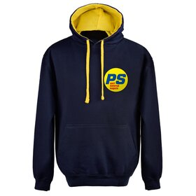 PS Hoodie, blue/yellow, small logo