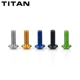 Titanium Bolts M5 x 15, multi teeth,  4 pcs, assorted...